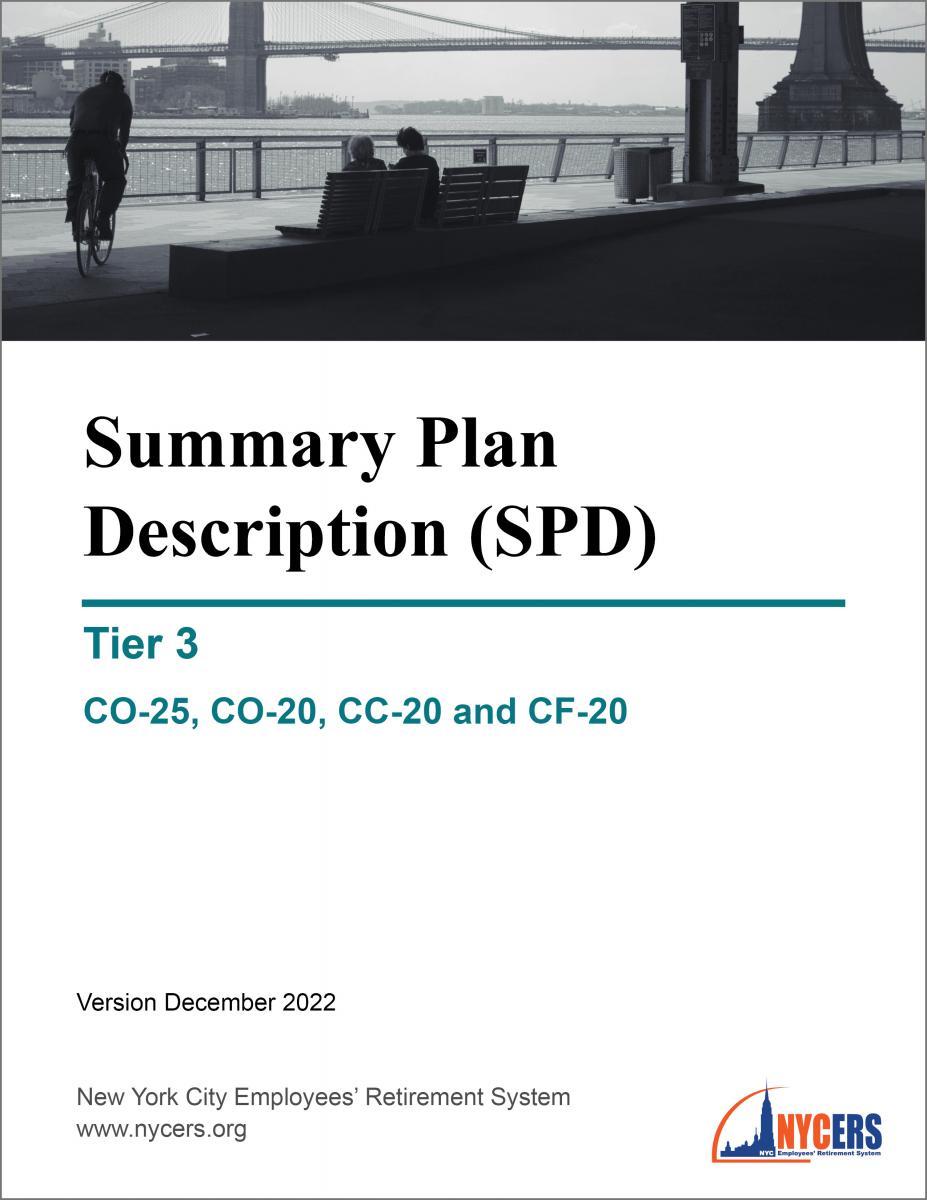 Tier 3 Summary Plan Description (SPD) - New York City