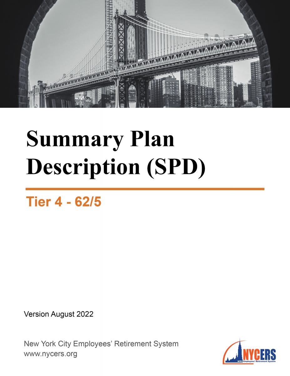 Tier 4 62/5 Summary Plan Description (SPD) - New York City