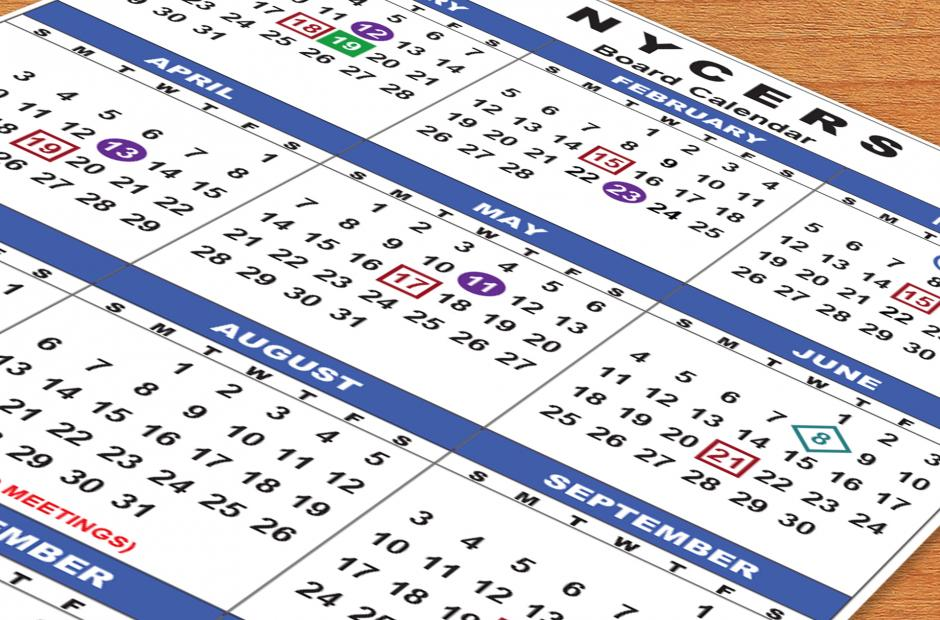 Nycers Pension Calendar 2021 Board Meeting Calendar   New York City Employees' Retirement System