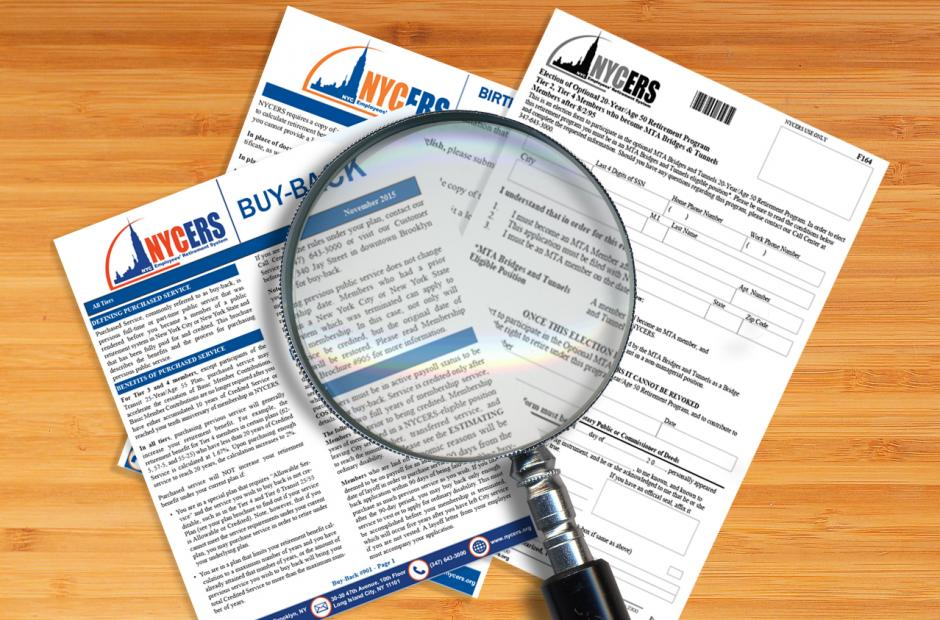 Forms Brochures And Fact Sheets New York City Employees Retirement System