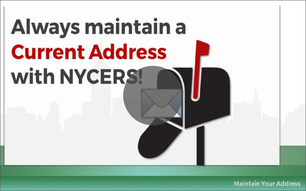 Keeping Your Address Up to Date