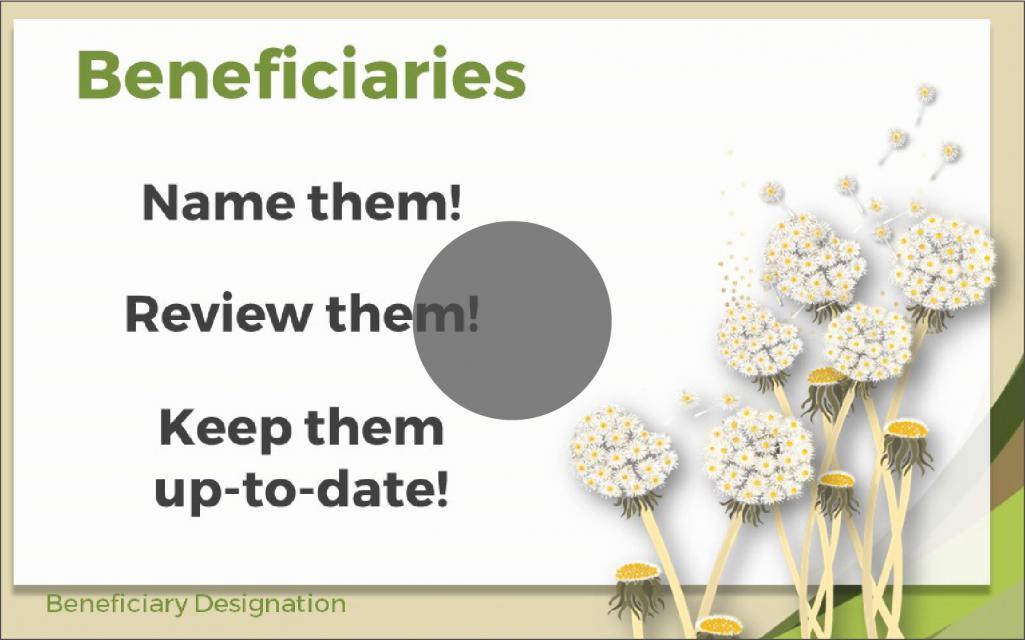 Naming Beneficiaries