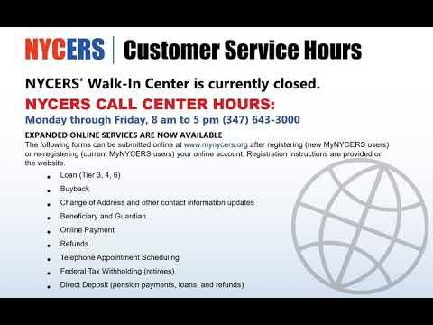 NYCERS Customer Service Hours Have Changed